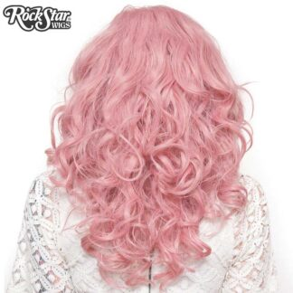 "Lace Front 22"" Cosplay - Milkshake Pink Mix 00250 Back Angle"