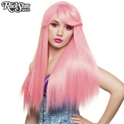 Gothic Lolita Wigs Bella Collection - Bubble Gum Pink (Deep Pink Mix) 00679 Front