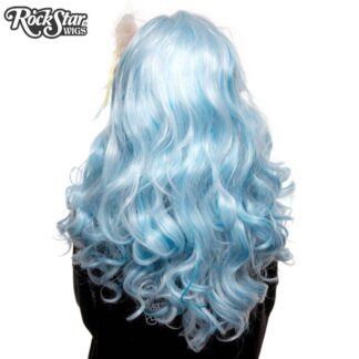 Lace Front Peek-A-Boo - Powder Blue with Aqua Highlight 00695 Back