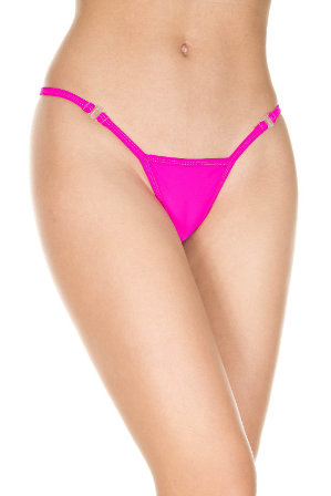 Detachable Clip G-String - Hot Pink