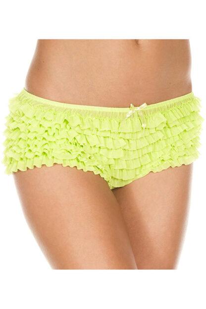 Soft Ruffle Tanga 117 Neon Green