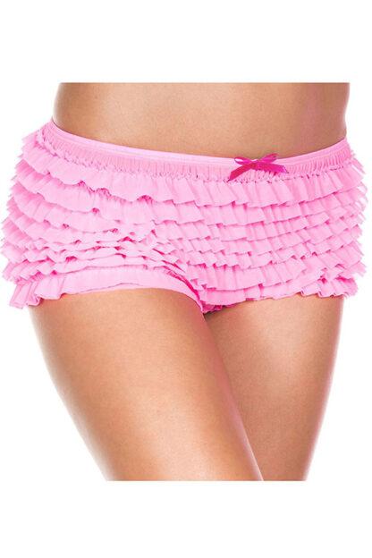 Soft Ruffle Tanga 117 Neon Pink
