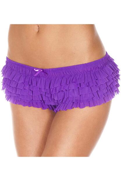 Soft Ruffle Tanga 117 Purple