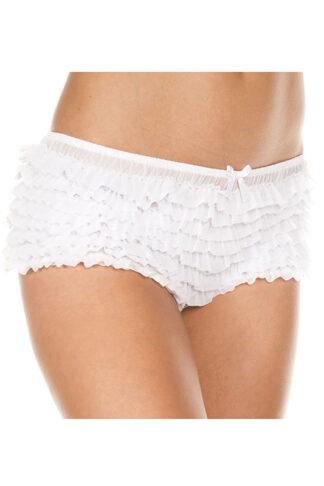 Soft Ruffle Tanga 117 White