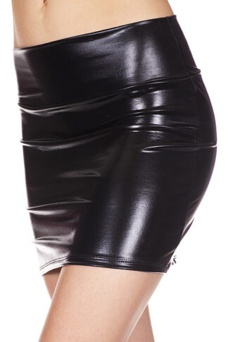 Metallic Skirt Black