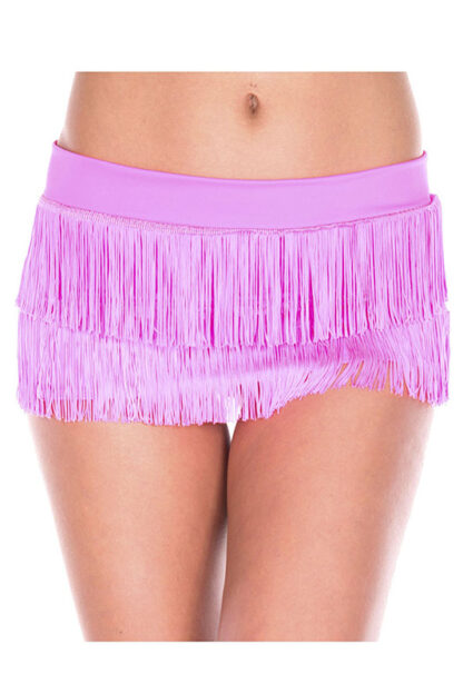 Fringed Mini Skirt Hot Pink Fringe on Hot Pink Skirt