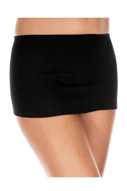 Plain Mini Skirt Black