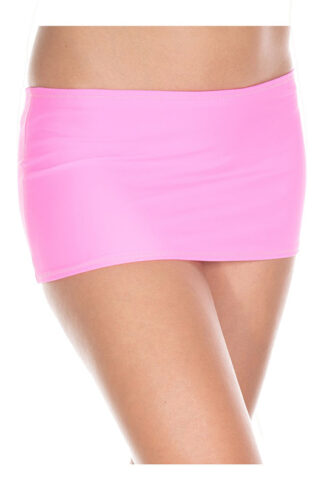 Plain Mini Skirt Neon Pink