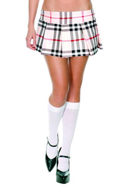 Min Plaid Checkered Skirt Brown Wear Look