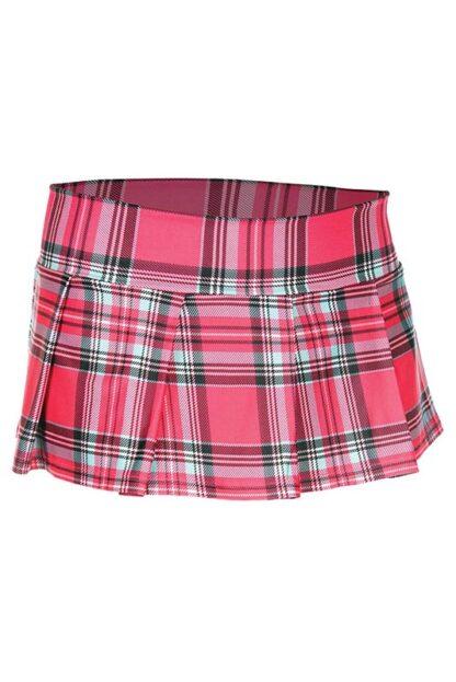 Min Plaid Checkered Skirt Hot Pink