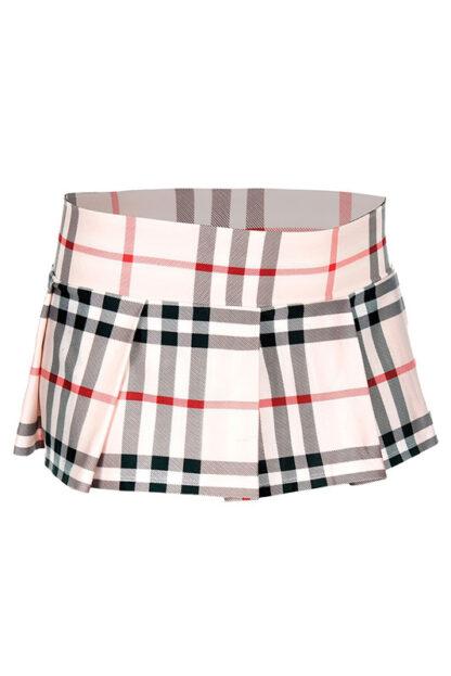 Min Plaid Checkered Skirt Brown