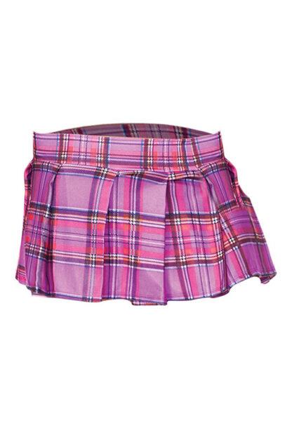 Min Plaid Checkered Skirt Light Purple