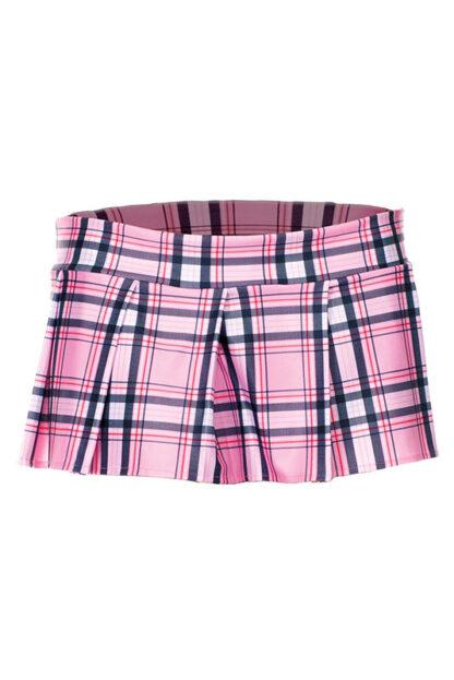 Min Plaid Checkered Skirt Pink