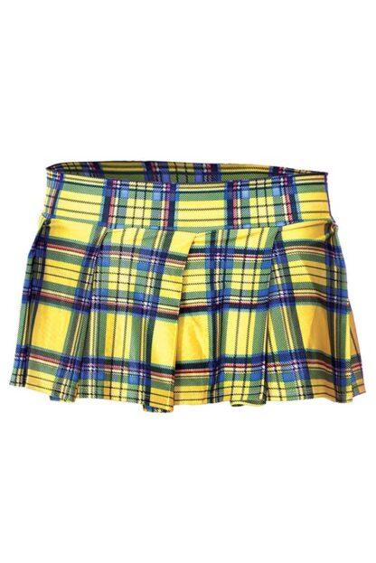 Min Plaid Checkered Skirt Yellow