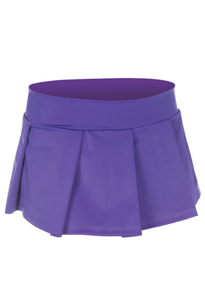 Solid Color Pleated Skirt Purple