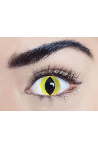 MesmerEyez 3 Month Contact Lenses - Yellow Cat UV