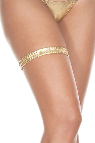 Metallic leg garter 43003 Gold
