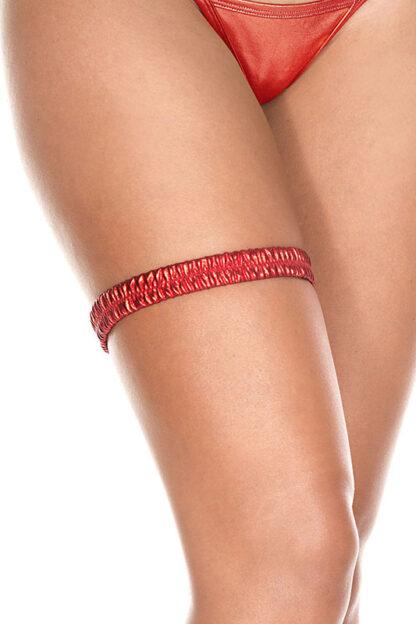 Metallic leg garter 43003 Red