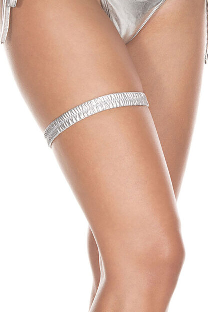Metallic leg garter 43003 Silver