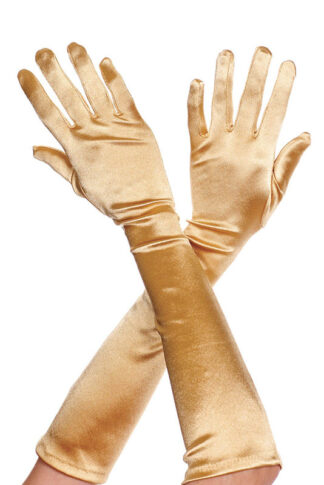 Extra Long Satin Gloves 452 Gold
