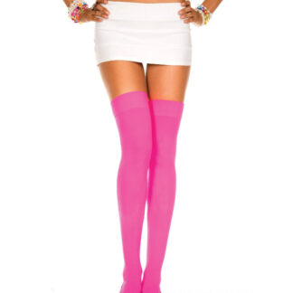 Opaque Thigh Highs Hot Pink