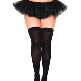 Opaque Thigh Highs Queen Size Black