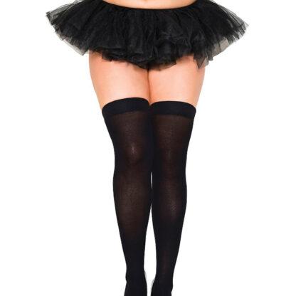 Opaque Thigh Highs Queen Size Black