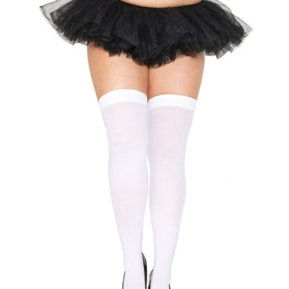 Opaque Thigh Highs Queen Size White