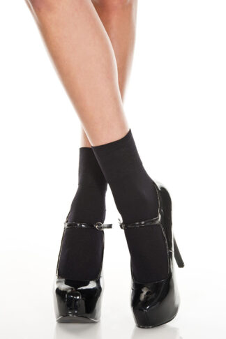 Opaque Anklet Black