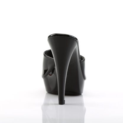 """Fabulicious 5"""" Cocktail 501 Slip On - Black Top and Platform Back"""