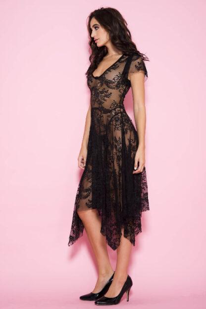 Lace Drape Gown Side
