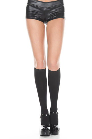 Opaque Knee Highs Black