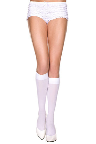Opaque Knee Highs White