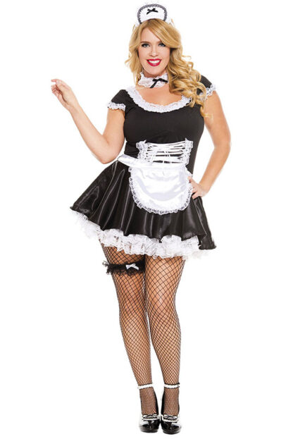 French Maid Queen Size- 4 pieces Front Angle