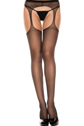 Sheer Suspender Pantyhose 803 Black
