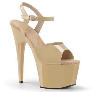 """Pleaser 7"""" Adore 709 Sandal - Patent Cream"""
