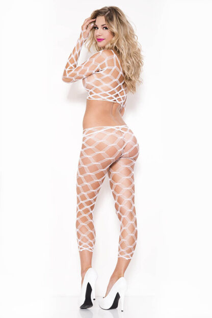 Multi Net Top and Tights - Comes in 7 Colors White Back2