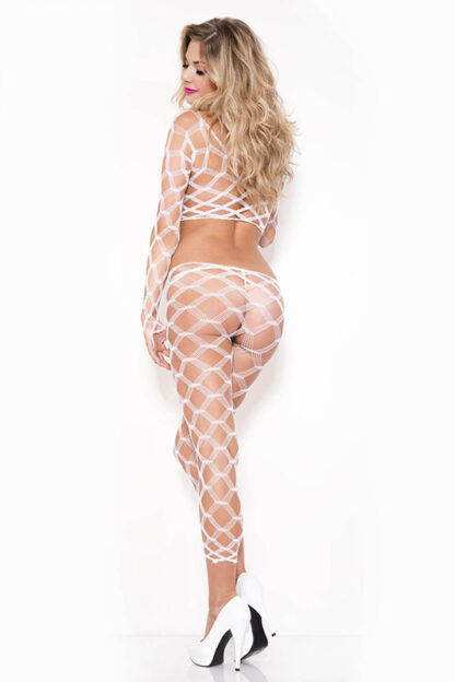 Multi Net Top and Tights - Comes in 7 Colors White Back