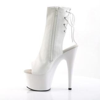 "Pleaser 7"" Adore 1018 Ankle Boot Matte White Left Angle"