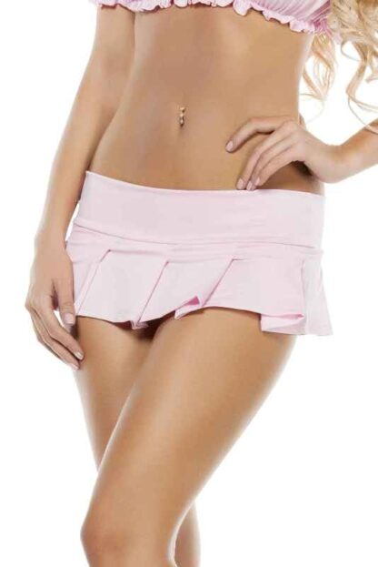 Pleated Mini Skirt Pink