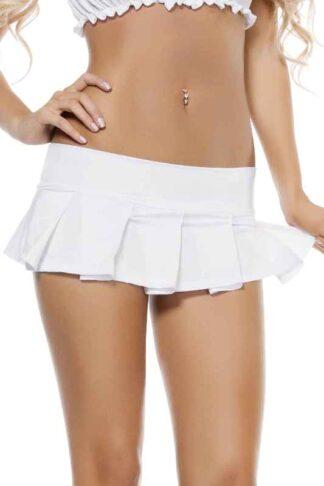 Pleated Mini Skirt White
