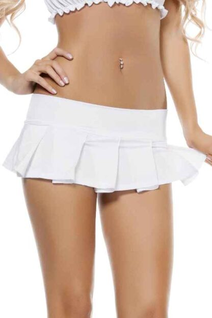 Pleated Mini Skirt White