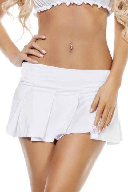 Pleated Skirt White