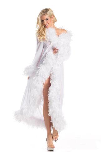 Marabou Turkey Feather Sheer long Wrap White