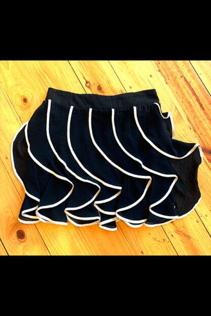 Black with White Trim Skirt 2