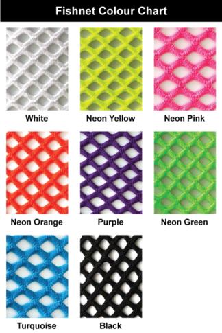 Fishnet colour chart
