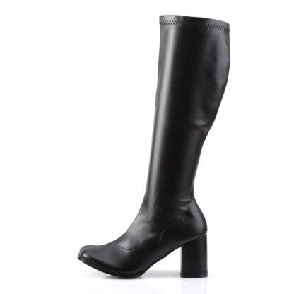 Funtasma 3″ Gogo Knee High Boots Matte Black Left Angle