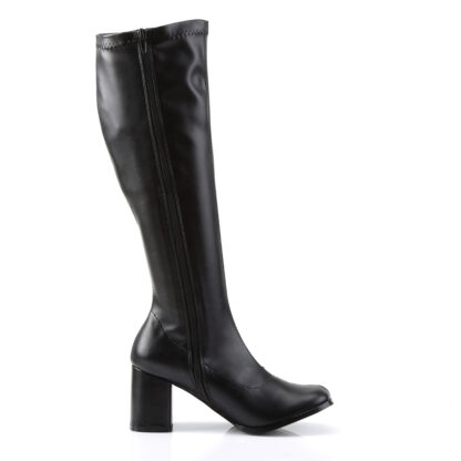 Funtasma 3″ Gogo Knee High Boots Matte Black Right Angle