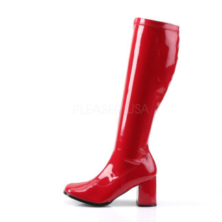 Funtasma 3″ Gogo Knee High Boots Patent Red Left Angle