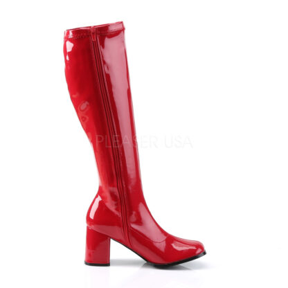 Funtasma 3″ Gogo Knee High Boots Patent Red Right Angle